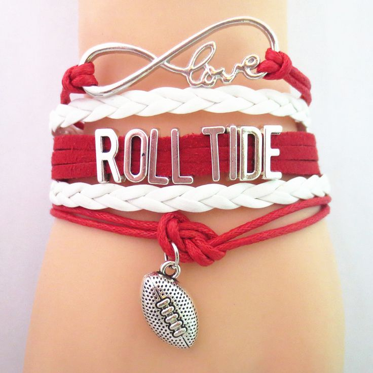 TODAY'S SPECIAL OFFER BUY 1 OR MORE, GET 1 FREE - $19.99! Limited time offer - Infinity Love Alabama Roll Tide Football Team Bracelet on Sale. Buy one or more bracelets and we will give you one extra