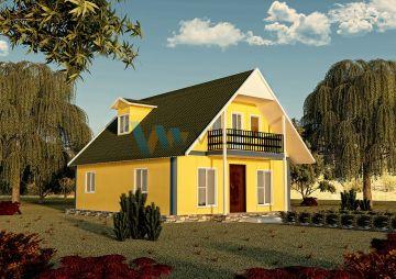 134 m² Çift Katlı Prefabrik Ev