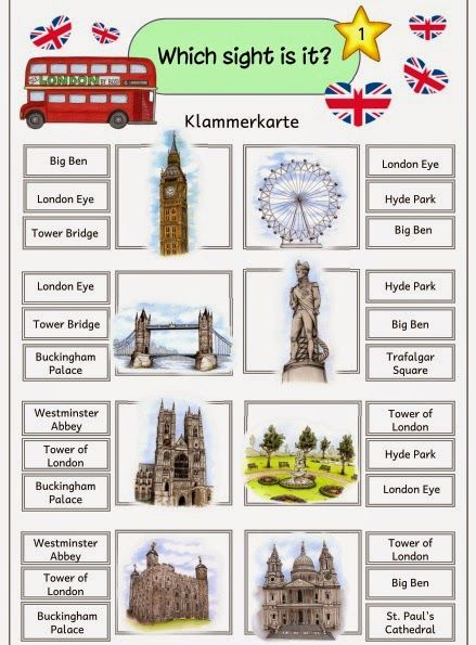 "Ideenreise: Klammerkarten ""Sights of London"""