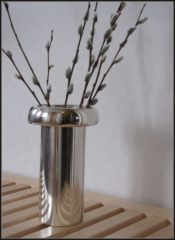""" KASVU "" vase, designed by Tapio Wirkkala. Made of sterling silver."