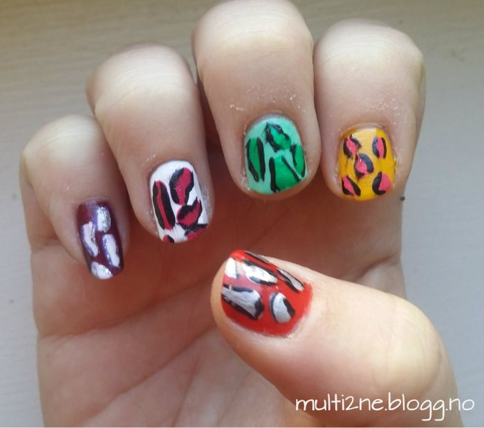 #nails #nailart #animalnails #colorful #nailpolish #naildesign