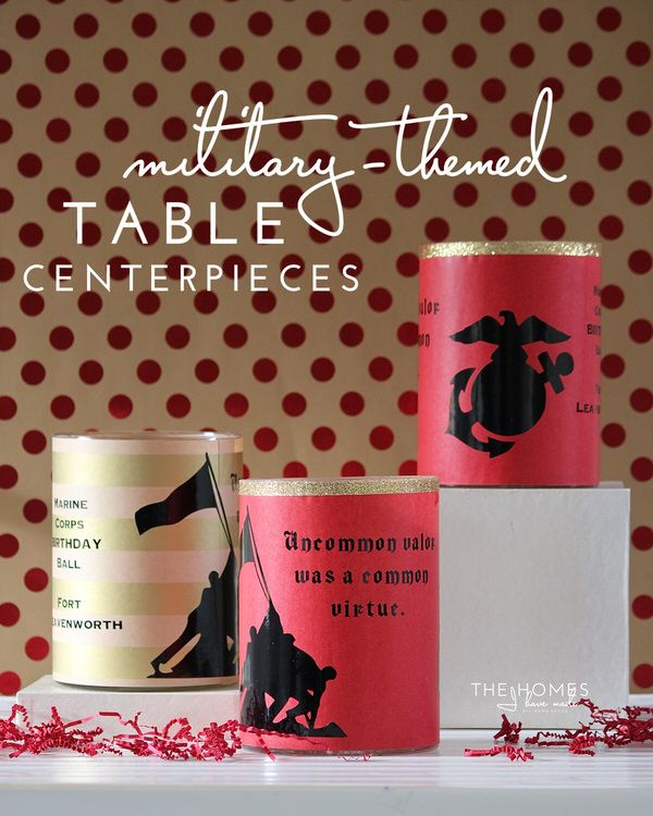 Easy Military Table Centerpieces