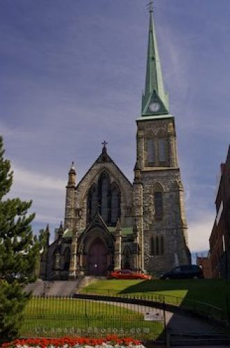 Picture of the historic Trinity Church in the downtown area of Saint John, New Brunswick.