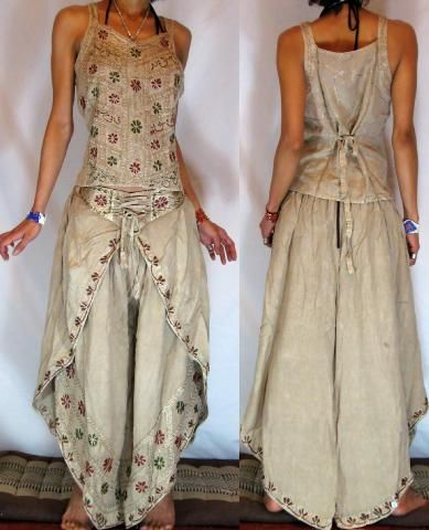 MissEthnic.com - GYPSY BOHO HAREM DANC PANTS TROUSERS TOP SET H13 love the design of these.
