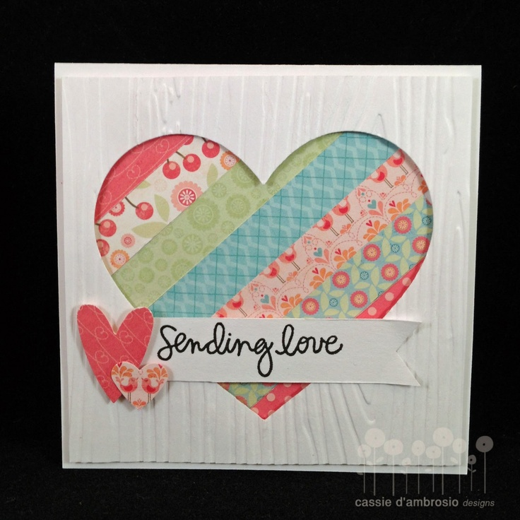 Beautiful heart Card, paper owl {cassie d'ambrosio}