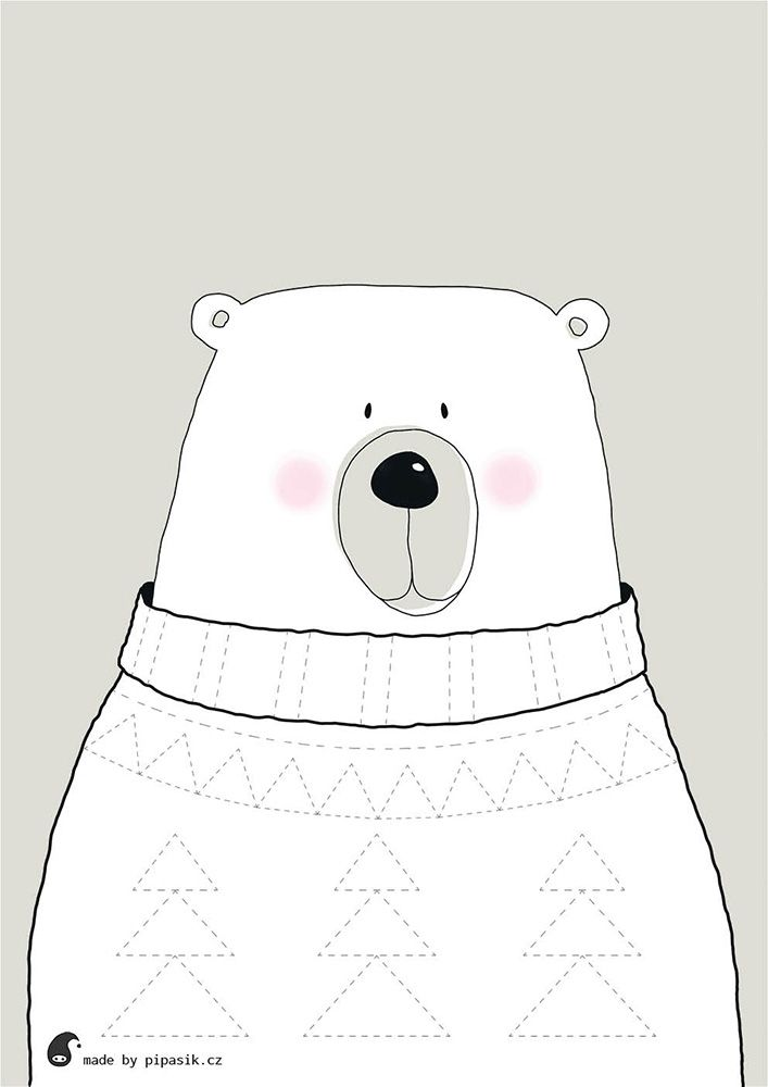 make sweater for animals -  coloring free printables by pipasik