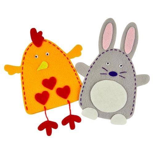 Make Your Own Felt Easter Puppets Kit