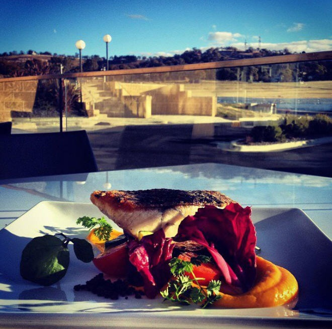Try our crisp barramundi fillet with sauteed chorizo, zucchini and heirloom tomatoes at Chicane Bar & Grill 02 6338 1831