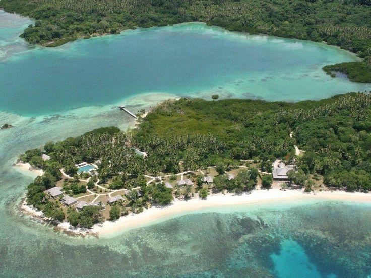 Aerial view over Eratap Beach Resort, Vanuatu  www.islandescapes.com.au