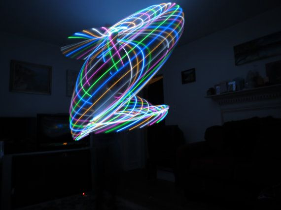 Candy Swirl LED Hoop 28 LEDS Cool White Warm White by MoonsOfNoor