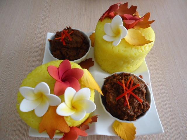 Nasi Kuning for Hantaran by nurainie tan, via Flickr