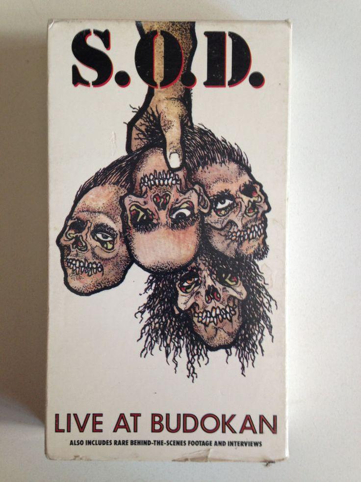 SOD Live At Budokan VHS 1992 Megaforce STORMTROOPERS OF DEATH NYHC NJHC #HardRockPunkNewWave