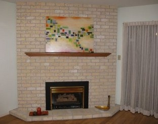 painted brick fireplace accent wall - Google Search