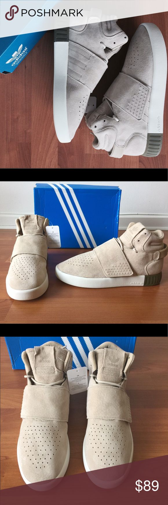 New Adidas Tubular Invader Strap Men's Sneakers New Men's Adidas Tubular Strap Sneakers. Various sizes. Women's and children sizes available upon request. Sizes are selling fast. 5 star ⭐️ rating. adidas Shoes Sneakers