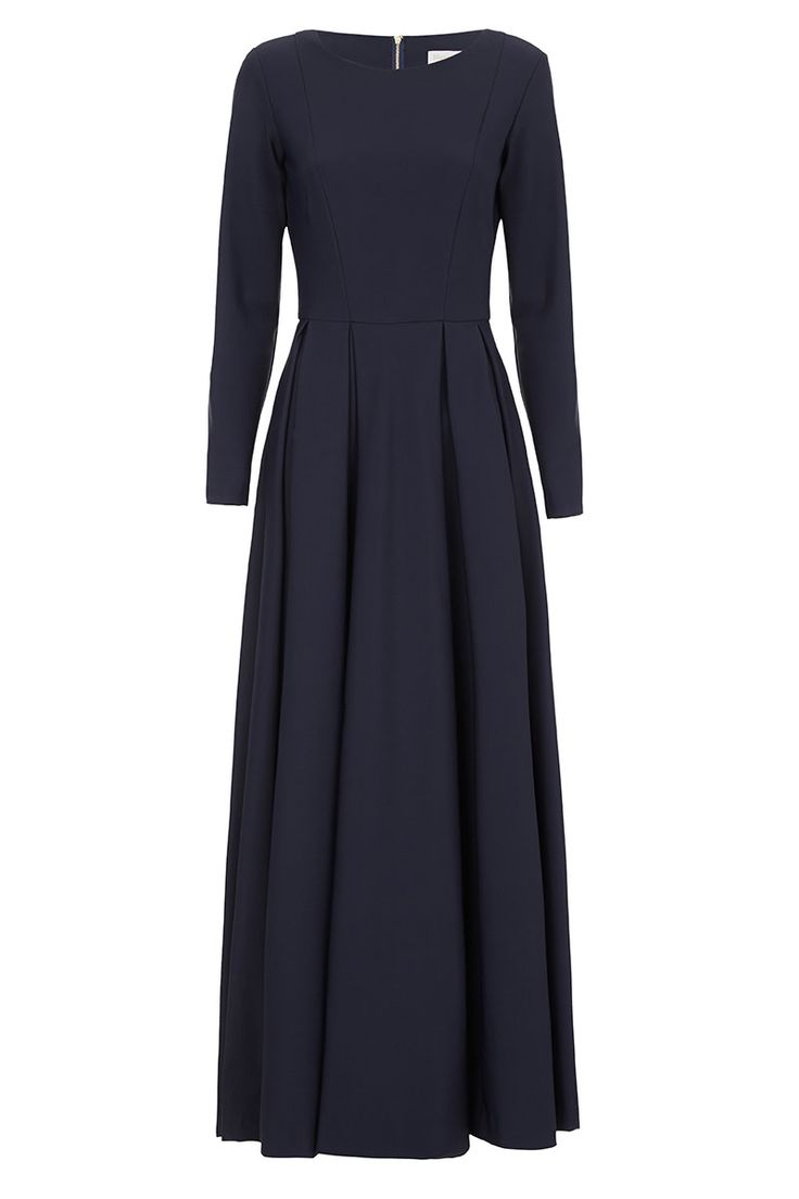 Navy Blue Maxi / The Touring dress takes a contemporary turn this season offsetting the hit hue, Navy against a nylon spandex finish. If it is day-time or after-dark sophistication you are after, never underestimate the power of an exquisitely cut dress, in a traditional sportswear textile. The full skirt is designed to stand away from your body whilst[...]Read More
