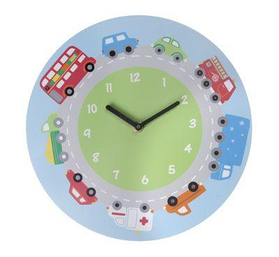 Super leuke wandklok #kinderklok voertuigen. Met wagens zoals een Brandweerauto, ziekenauto, bus en vrachtwagen. Kinderkamer Decoratie kidsdecoshop.nl