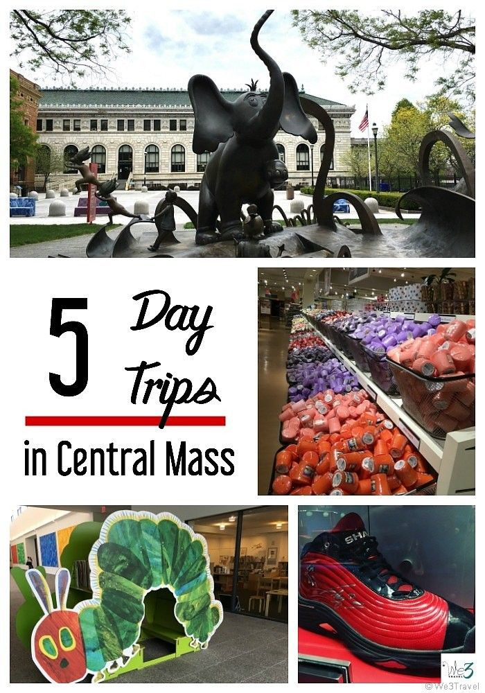 5 day trips in Central Massachusetts including Springfield Museums, Eric Carle Museum, Six Flags New England, Basketball Hall of…