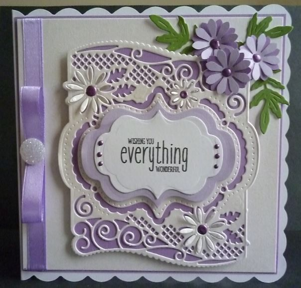 Card made using the new flip flop frame dies