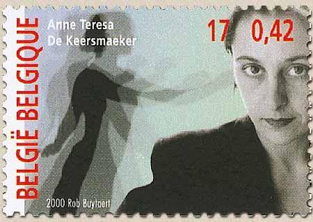 アンヌ=テレサ・ド・ケースマイケルの切手とは、さすがベルギー。