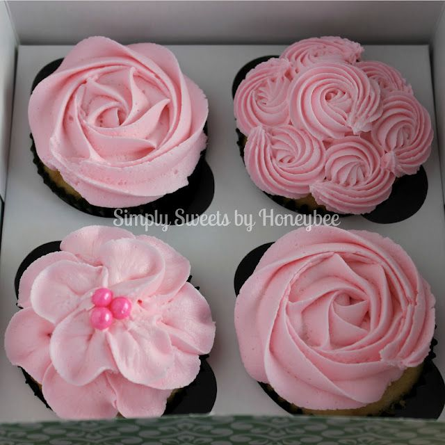 Great flower cupcake tutorial. Video Tutorial} - simplysweetsbyhoneybee.com