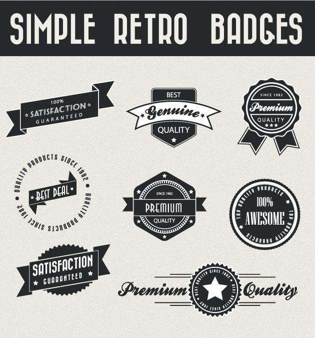 retro badge inspiration