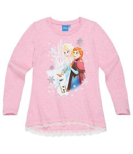 Disney Frozen - Il regno di ghiaccio Ragazze T-shirt a maniche lunghe - rosa - 140