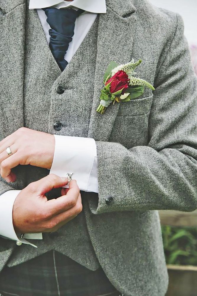 24 Stylish Groom Attire For Winter Weddings ❤ See more: http://www.weddingforward.com/groom-attire/ #weddings #groom