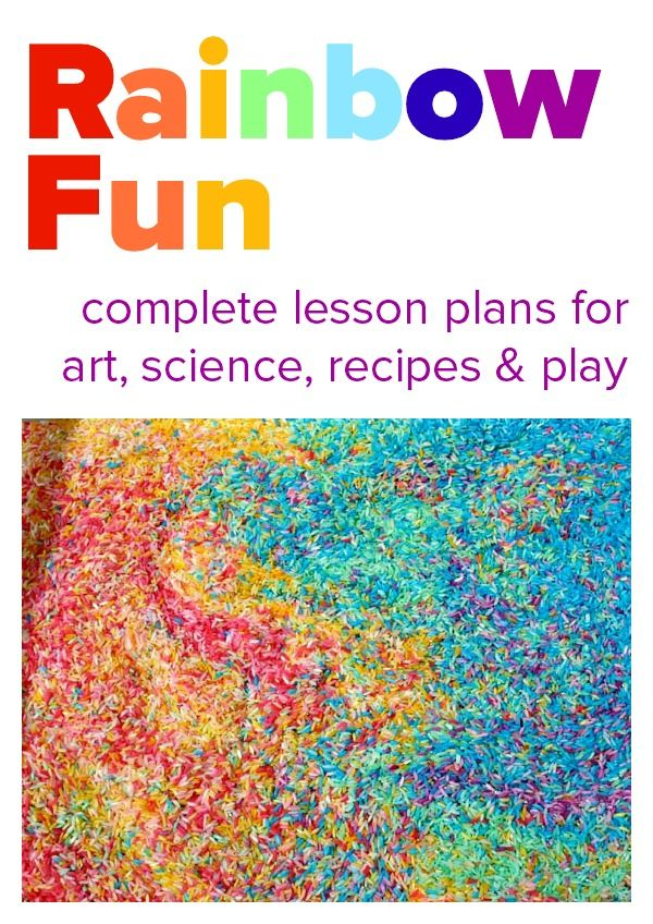 Complete lesson plans for art science recipes and play all with a rainbow theme. Would make a great rainbow theme party too