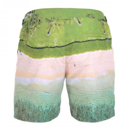 MID-LENGTH NYLON BOARDSHORTS WITH GRAY MALIN'S PHOTO PRINT - Bulldog Nylon boardshort with Gray Malin's photo print. Two pockets on the front and one pocket on the back with zip fly.. Adjustable side straps with metal buckle, internal mesh, zip and button fly. #orlebarbrown #mrbeachwear #photo #printing #boardshorts #mens #summer #newarrivals #fashion