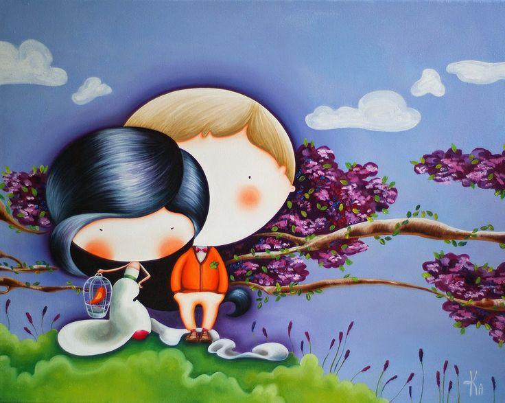 Картины для детских комнат: Лавандовая любовь:)