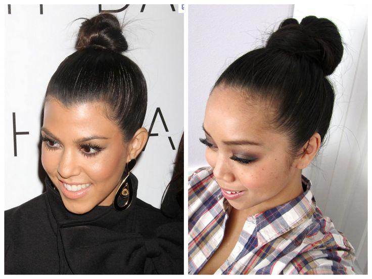 It's Judy Time: Easy Top Knot Hair Tutorial Inspired by Kourtney Kardashian