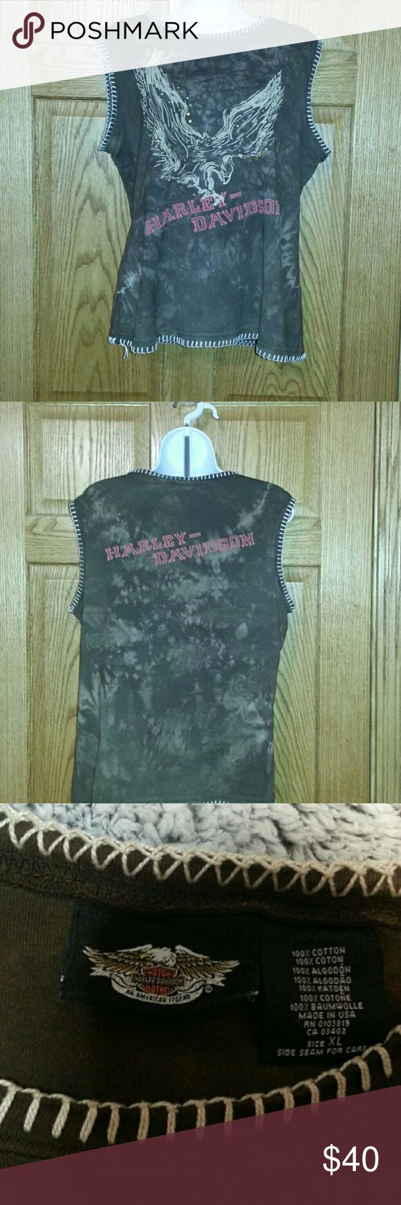 Very cute Harley Davidson vest bought at Sturgis. Only worn a couple of times Harley-Davidson Jackets & Coats Vests