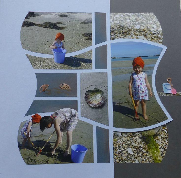 Petite Louise à la pêche aux coques...