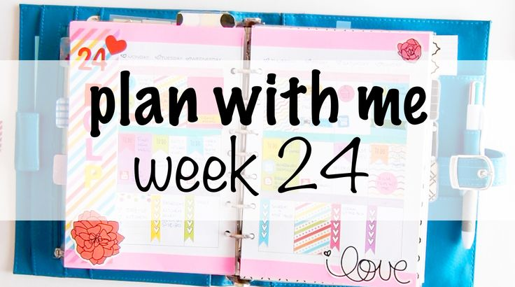 Plan with me - Week 24 [+GIVEAWAY announcement]