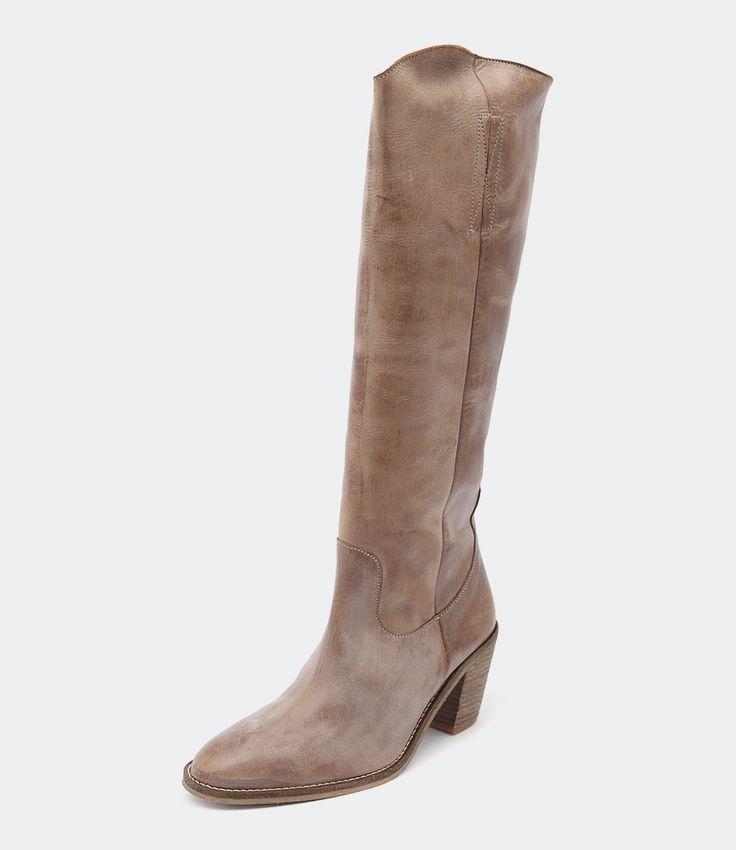 Ivy Lee Copenhagen Malene knee boots in Dark Tan