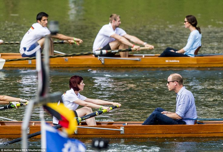 William gamely said it was 'fine' after learning he was up against an Olympic rower on the...