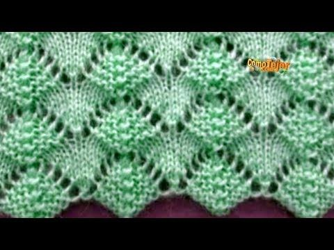 Como Tejer Flores-How to Knit Flowers 2 Agujas (175) - YouTube