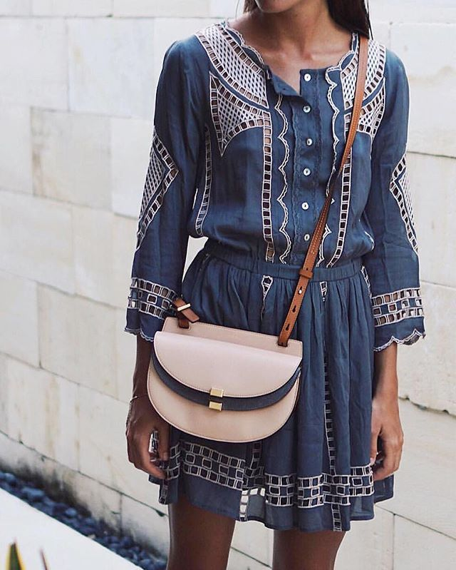 spring = getting to wear our favorite boho minis ✨ @ninauc in her @tularosalabel Orsen dress (style # TULA-WD194)