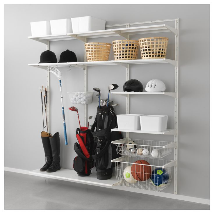 algot wall upright shelf and basket ikea