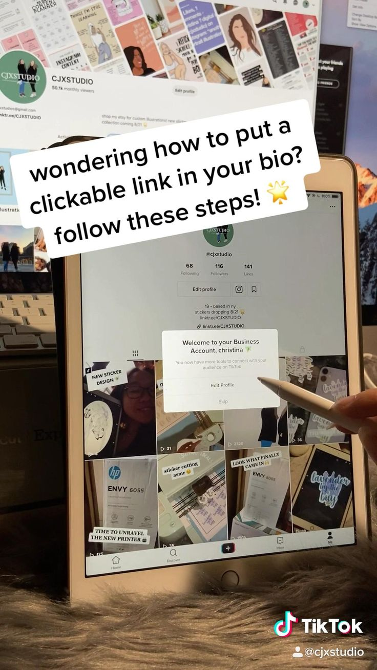 How To Add A Clickable Link On Your Tiktok Bio Video Small Business Marketing Successful Business Tips Small Business Packaging