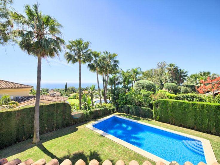 Villa mit Meerblick in Altos Reales zu verkaufen, 4 Schlafzimmer, 4 Bäder, Objekt Nr. 1139, Marbella Goldene Meile, Costa del Sol, Spanien.
