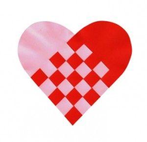 Valenýnské srdíčko - vyrobené z papíru / Valentine heart - made from paper
