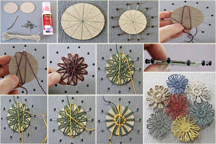 DIY Easy Yarn Flower   UsefulDIY.com Follow Us on Facebook ==> http://www.facebook.com/UsefulDiy