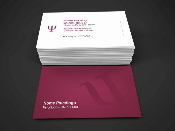 Cartão de visita Psicólogo