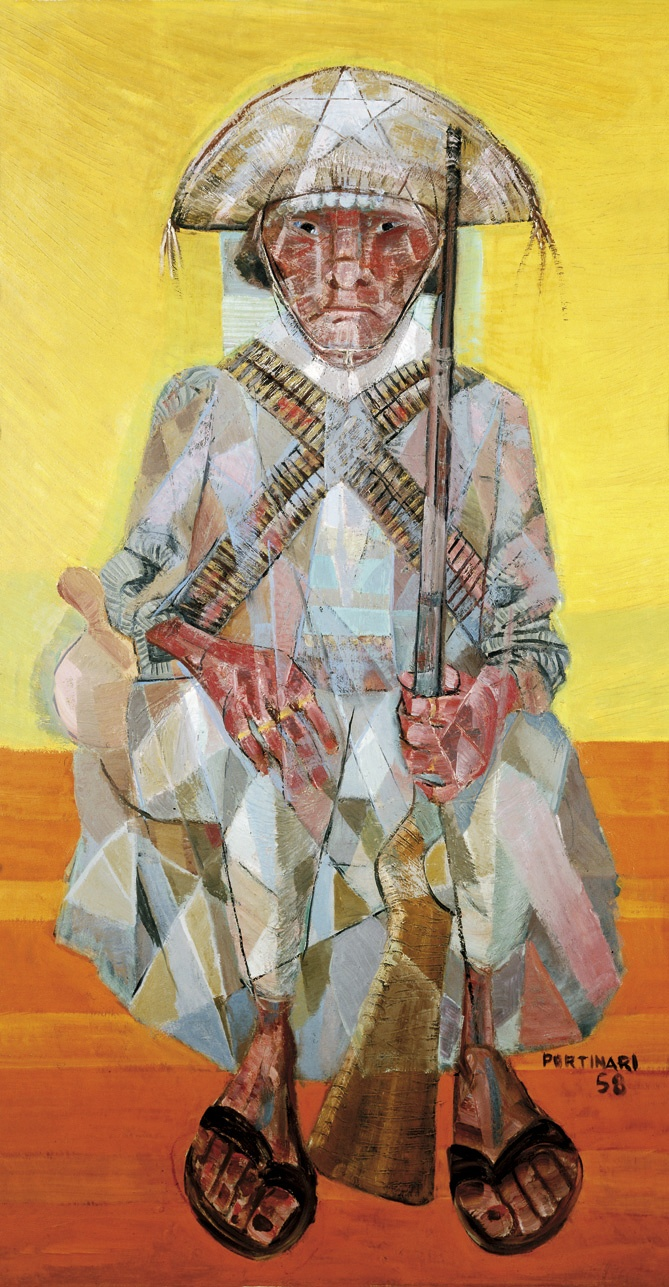 Cangaço(1958) - Oil on Canvas - Candido Portinari.