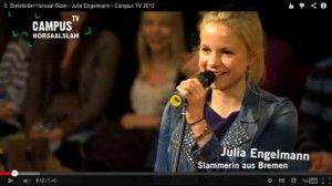 Danke Julia: Dopamin und Anagramm http://blog.worschtsupp.com/danke-julia-dopamin-und-anagramm/ Foto: Campus TV/Universität Bielefeld