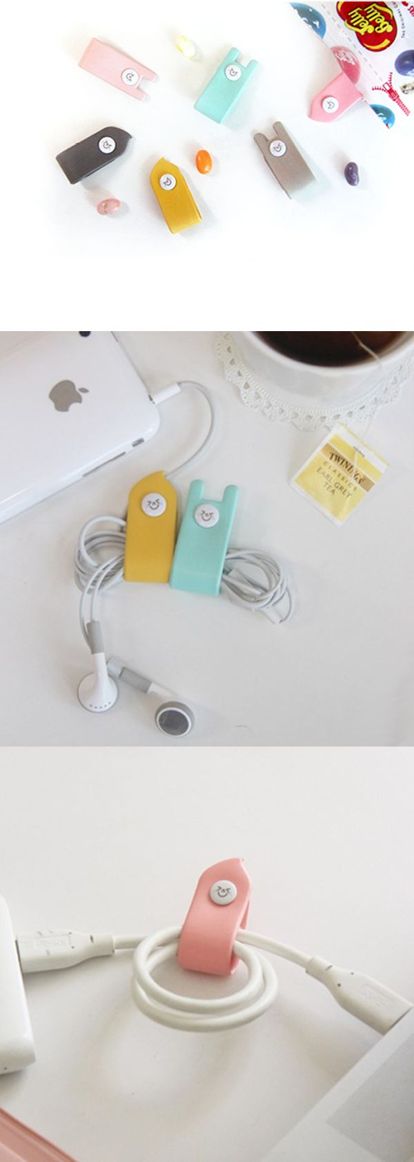 Say goodbye to tangled earphones with this super cute Tick Tock Earphone Winder Set! ^.~*