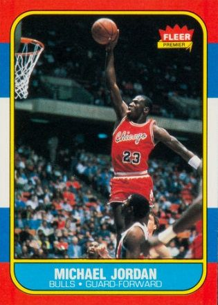 Five Rare Rookie CardsThe Fleer Michael Jordan rookie card is by no means rare, with more than 13,000 cards recorded, and a good copy graded around 7 can be found for less than $500. However, the value of the highest-graded examples has skyrocketed in recent years. In 2011, one of only a handful of pristine examples with a perfect 10 grading sold for $100,000.
