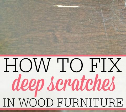 Tired of scratches making your furniture look old and tired? Check out how to fix deep scratches in wood. It's easy and only cost a few dollars.