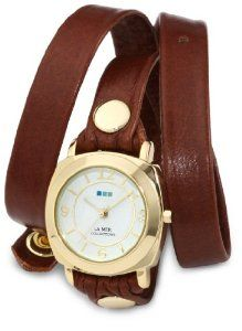 La Mer Collections Women's LMODY005 Brown Gold Odyssey Wrap Watch: Watches: Amazon.com